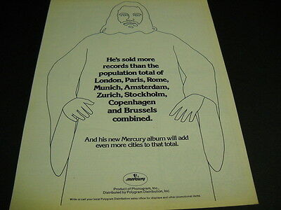DEMIS ROUSSOS He's Sold More Than... original Rare 1978 PROMO DISPLAY AD mint