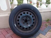 "FORD GALAXY VW SHARAN 16"" STEEL WHEEL & TYRE 205/55 R16"