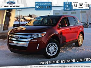 2014 Ford Edge **LIMITED*AWD*CUIR*TOIT*NAVI*CAMERA*CRUISE*A/C**