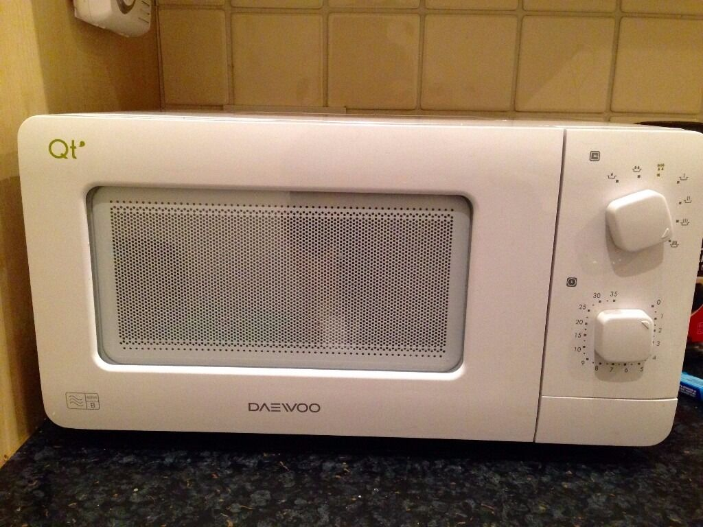 Daewoo QT1 Compact Microwave Oven, 14 L, 600 W - White | in ...