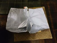 Ladies shorts, blue/white pinstripe, size 12 for sale