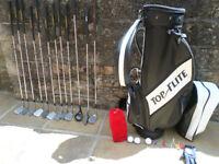 Golf set with golf bag
