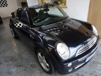 2005 MINI CONVERTIBLE 1.6 2DOOR, HPI CLEAR, FULL SERVICE HISTORY, CLEAN CAR, DRIVES VERY NICE