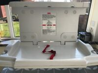 Wall mounted baby changing table - commercial