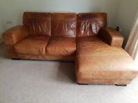 DFS, 3 Seater Corner Sofa and 2 Seater Sofa, Tan Colour, Good Condition