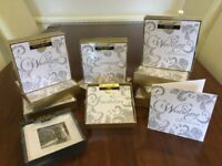 Clintons luxury silver glitter wedding invitations, day &evening invites, thank you cards &envelopes