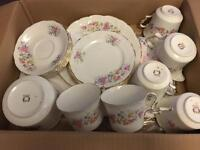Collingwood Vintage cups saucers teaset tea set floral teacup plate jug sugar bowl dinner crockery