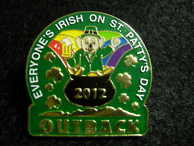 Outback Steakhouse St Pattys Day 2012 hat lapel pin Koala