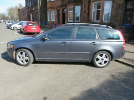 Volvo V50 SE Grey. Full History and Leather Interior