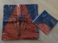 "BRAND NEW - Two Spiderman Cushion Covers - Different Designs - approx 17"" x 17"" - Collect PE27"