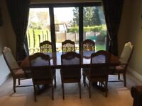 Dining Table and 8 Chairs