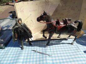 Lord of the Rings Strider & horse. Sheringham.