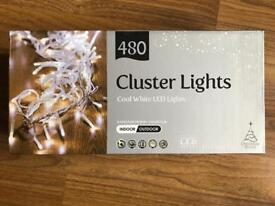 BRAND NEW 480 CLUSTER LIGHTS COOL WHITE LED LIGHTS - WEDDING, PARTY