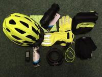 New, men's cycling equipment