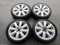 GENUINE MINI R56 CROWN ALLOY WHEELS WITH TYRES X4