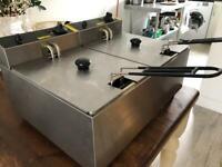 Buffalo L485 2 x 5 Litre Double Tank Fryer