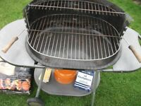 Barbeque, including 8kg bag charcoal, cooking utensils, kettle, lighters and matches