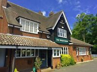 Wheatsheaf, Stow-Cum-Quy requires Bar and Waiting Staff