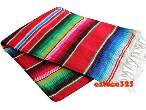 Red Sarape Serape Mexican Blanket Saltillo Southwestern 5