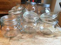 Various glass jars/ food storage/ reserve jars
