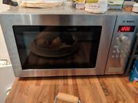 Bosch Microwave Stainless steel 900W, 25 litres HMT84M451B Great Condition