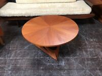 Sunburst Coffee Table by Soren Georg Jensen for Kubus. Danish Retro Vintage Mid Century