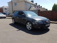 Audi A3 6speed 140bhp 12months mot very good condition ,px options available