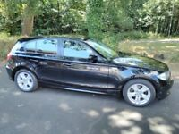 BMW 1 Series 316i 2007 (57 plate) Black 6 speed manual petrol 71800 miles in excellent condition