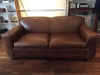 Big leather Sofa / Bed Made in USA