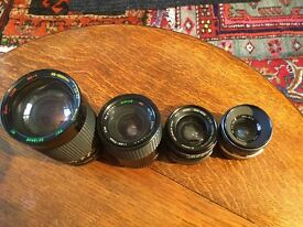 Job lot 35mm lenses. Sigma Sun soligor Sirius