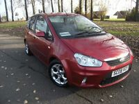 DIESEL 2008 08 FORD C-MAX 1.8 ZETEC 5D 116 BHP***GUARANTEED FINANCE***PART EX WELCOME***