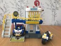 Tonka Police Station Set inc Car, Bike & Figures