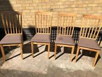 4 no. Oak Dining Chairs
