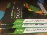 National 5 study guides: Biology, English, physics