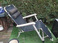 LAFUMA XL Zero Gravity Recliner Chair Oversized Sun Lounger Garden Chairs Supports 260kgs