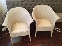 2 Lloyd loom chairs wicker
