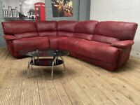 HARVEYS GOVENOR SUEDE TWO TONE FULLY RECLINER CORNER SOFA RRP 2999