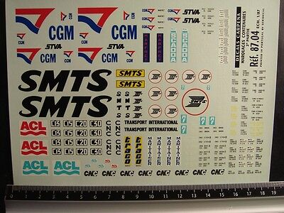 DECALS TRAIN 1/87 MARQUAGES CONTAINERS DIVERS PART 2 CARPENA 8704