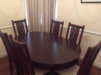 John Lewis Garbo dining table & Maharani dining chairs
