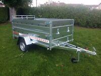 Trailers 8 x 4,1 double broadside and ramp £980 inc vat