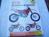 KTM exc repair/service manual by Haynes.