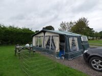 Conway crusader 2008 hot/cold water cassette toilet 6 berth