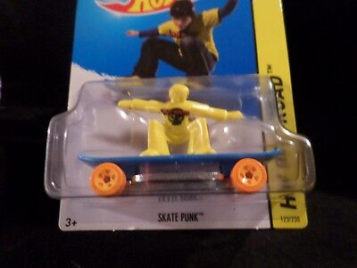HW HOT WHEELS 2014 HW OFF-ROAD #123/250 SKATE PUNK HOTWHEELS YELLOW/BLUE VHTF