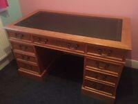 Oak writing table