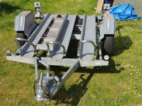 Erde motorbike trailer. This is a 3 bike trailer with a ramp and spare wheel. 750kg