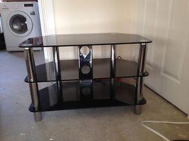 TV stand Black gloss finish, 32w x18d