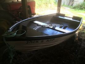 Open top 13foot fishing boat with trailer