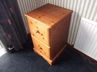 Two Drawer Cabinet. Pine.
