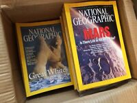 128 National Geographics - almost all editions between 1993 - 2004.