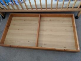 Cotbed trundle storage drawer